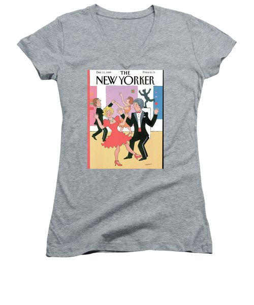 New Yorker December 11th, 1989 Women's V-Neck