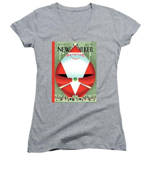 New Yorker December 17th, 2007 Women's V-Neck