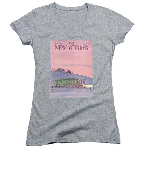 New Yorker December 19th, 1983 Women's V-Neck