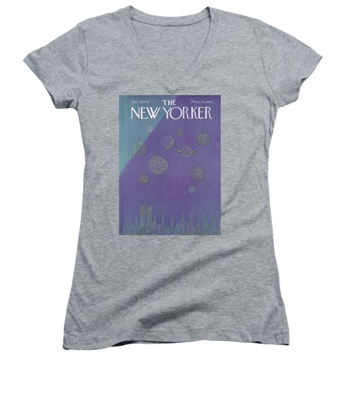 New Yorker December 27th, 1976 Women's V-Neck