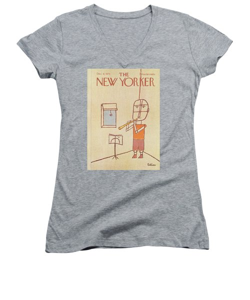 New Yorker December 9th, 1974 Women's V-Neck