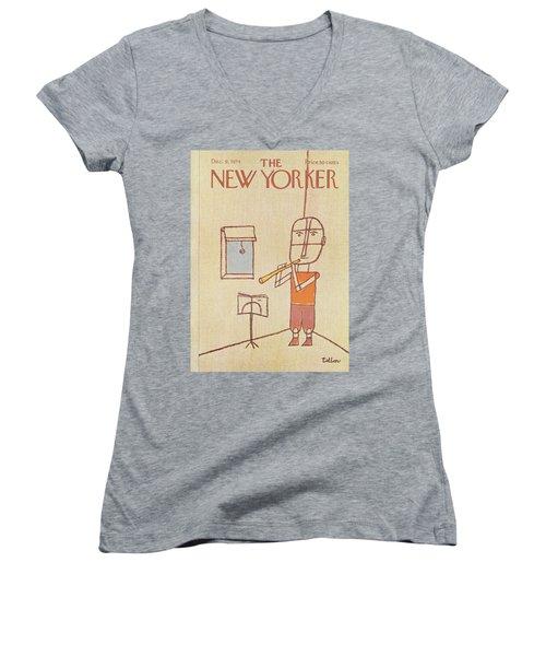 New Yorker December 9th, 1974 Women's V-Neck