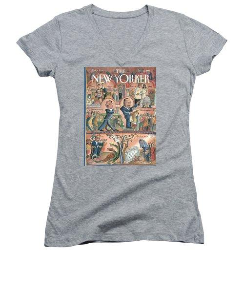New Yorker January 18th, 1999 Women's V-Neck