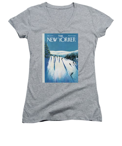 New Yorker January 20th, 1973 Women's V-Neck
