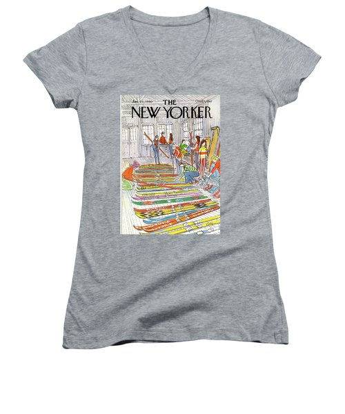 New Yorker January 21st, 1980 Women's V-Neck