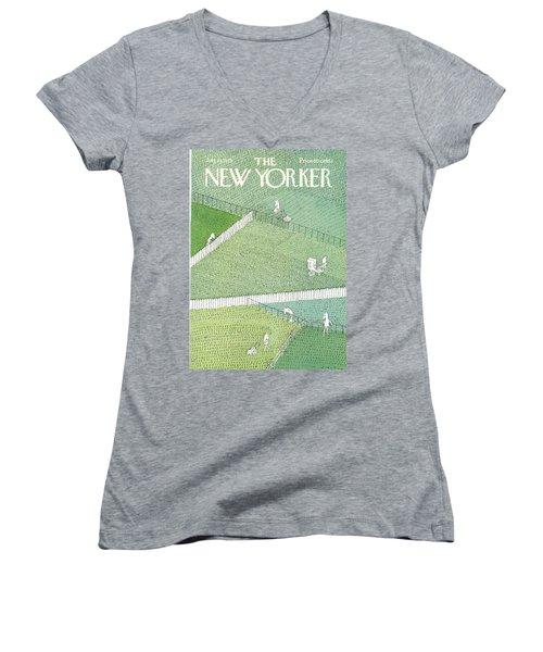 New Yorker July 21st, 1975 Women's V-Neck