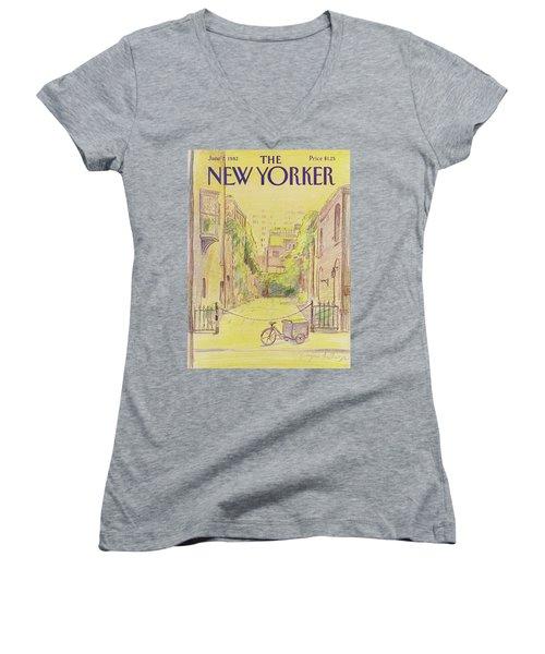 New Yorker June 7th, 1982 Women's V-Neck