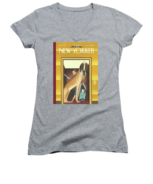 New Yorker March 10th, 2003 Women's V-Neck