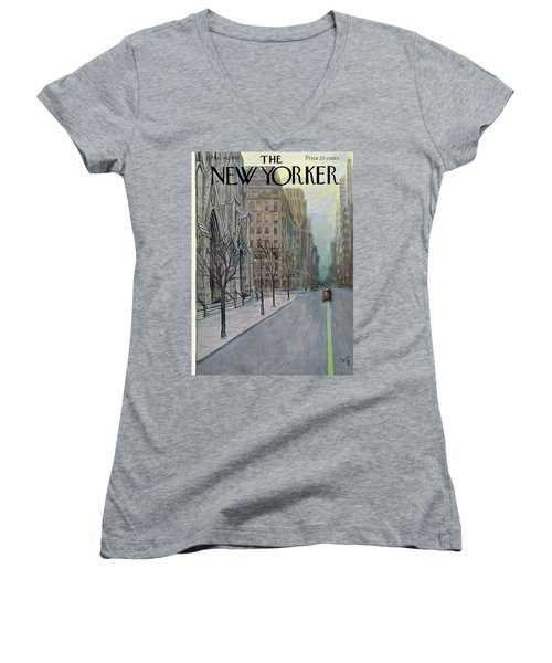 New Yorker March 16th, 1957 Women's V-Neck