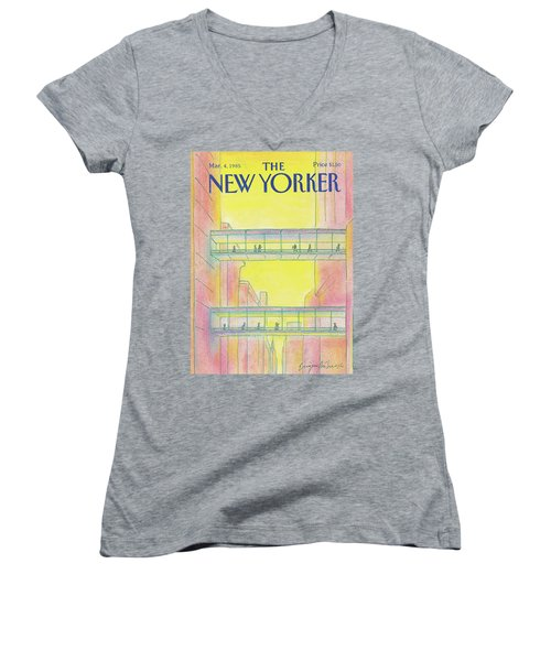 New Yorker March 4th, 1985 Women's V-Neck