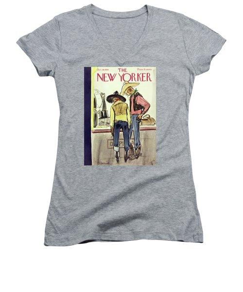 New Yorker October 19 1935 Women's V-Neck