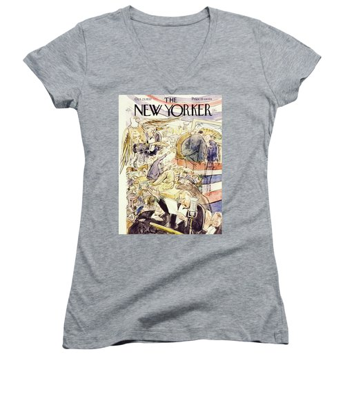 New Yorker October 23 1937 Women's V-Neck