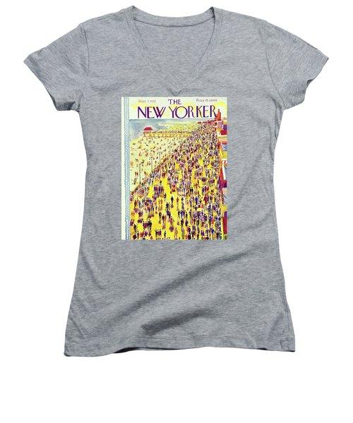 New Yorker September 3 1932 Women's V-Neck (Athletic Fit)