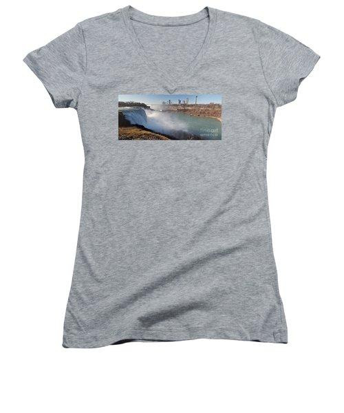 Niagara Falls Panorama Women's V-Neck