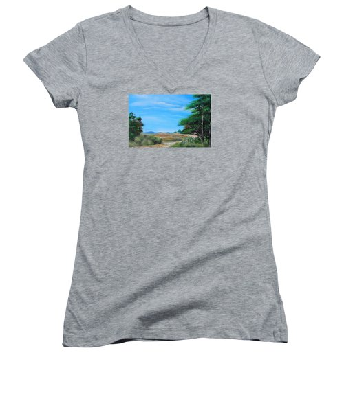 Nipa Hut In The Barrio Women's V-Neck (Athletic Fit)