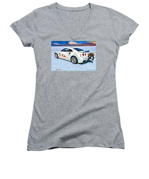 Nissan Salt Flats Women's V-Neck (Athletic Fit)