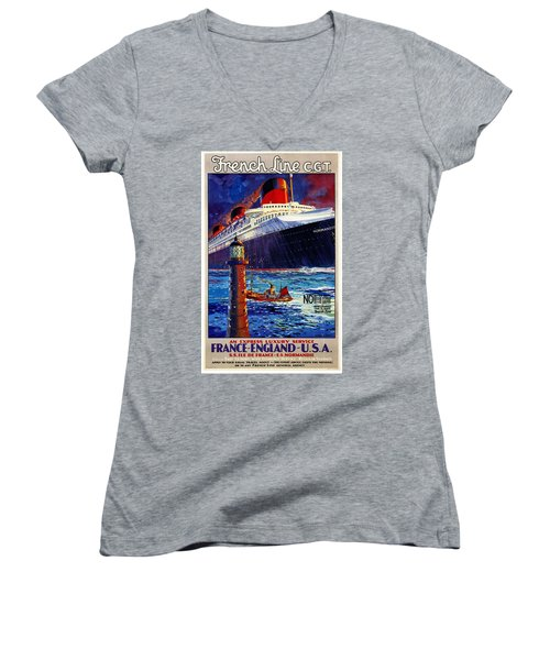 No Better Advice Than To Travel - French Line Women's V-Neck
