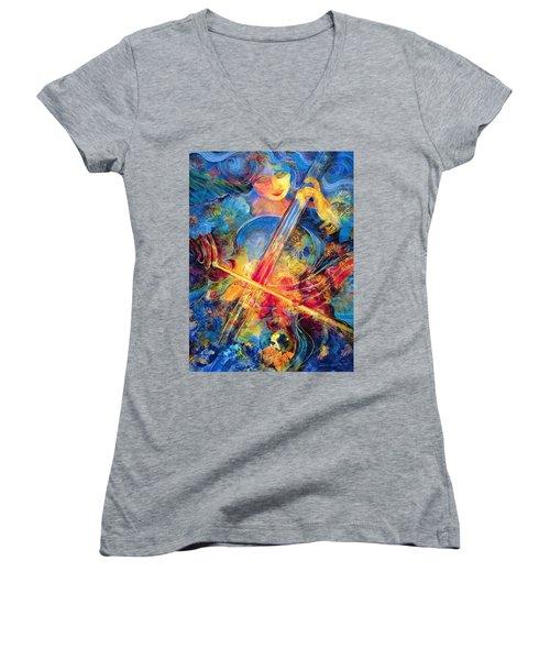 No Blue Notes Women's V-Neck T-Shirt