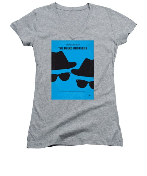 No012 My Blues Brother Minimal Movie Poster Women's V-Neck
