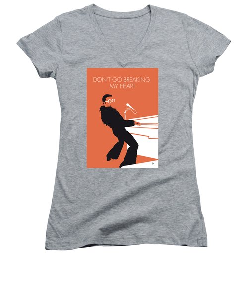 No053 My Elton John Minimal Music Poster Women's V-Neck T-Shirt