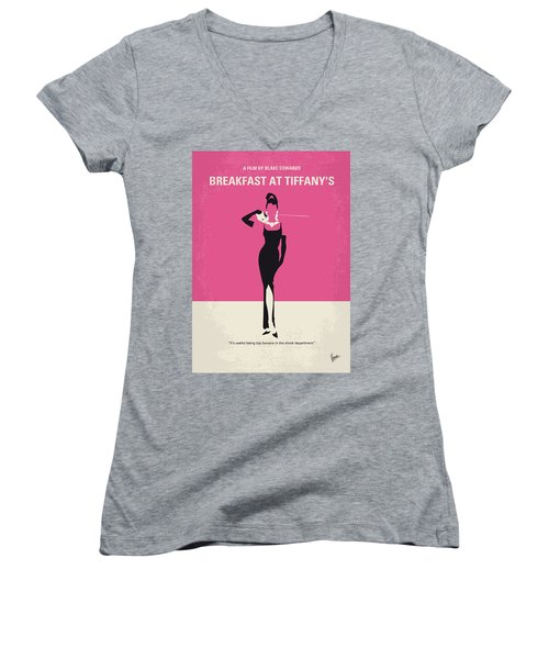 No204 My Breakfast At Tiffanys Minimal Movie Poster Women's V-Neck