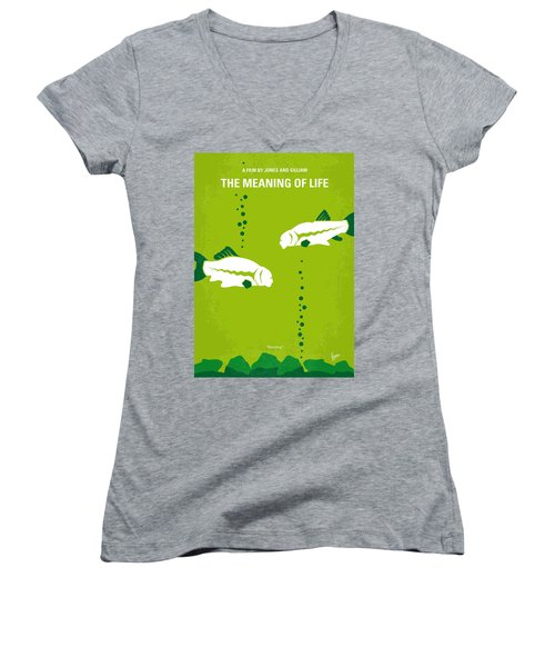 No226 My The Meaning Of Life Minimal Movie Poster Women's V-Neck T-Shirt
