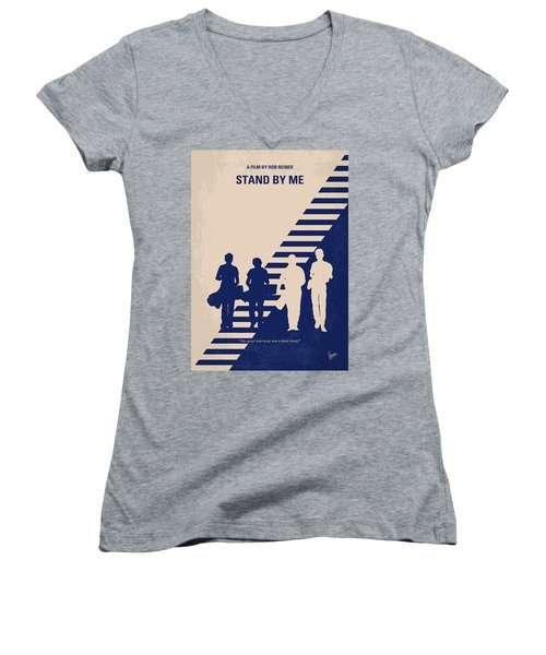 No429 My Stand By Me Minimal Movie Poster Women's V-Neck (Athletic Fit)