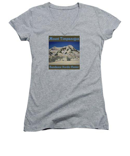 Nordic Timpanogos Poster Women's V-Neck T-Shirt