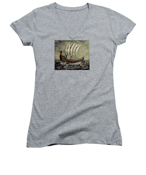 Norse Explorers Women's V-Neck T-Shirt