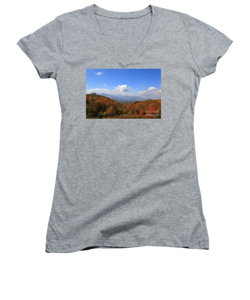 North Carolina Mountains In The Fall Women's V-Neck