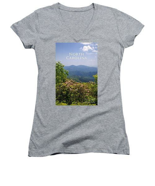 North Carolina Mountains Women's V-Neck (Athletic Fit)