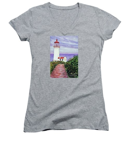 North Head Light House On The Washington Coast Women's V-Neck (Athletic Fit)