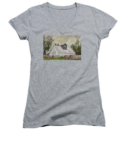 Nortonville Kansas Women's V-Neck T-Shirt (Junior Cut) by Liane Wright