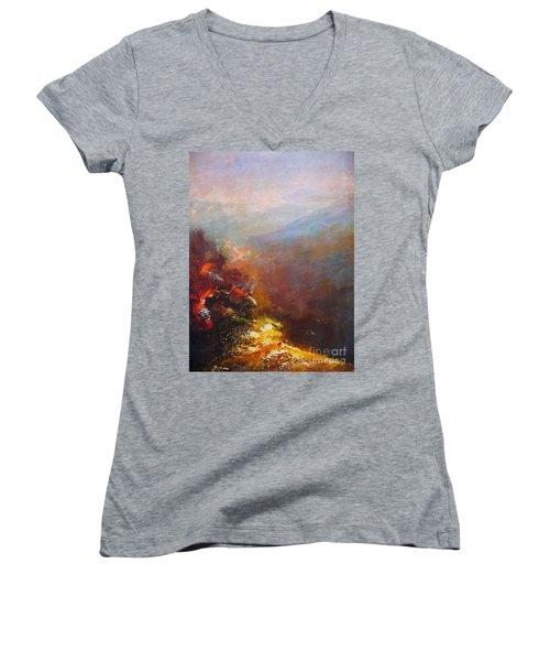 Nostalgic Autumn Women's V-Neck T-Shirt