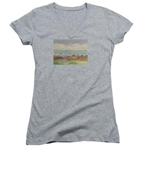 Nuns Pool Below Flagstaff Hill Women's V-Neck T-Shirt