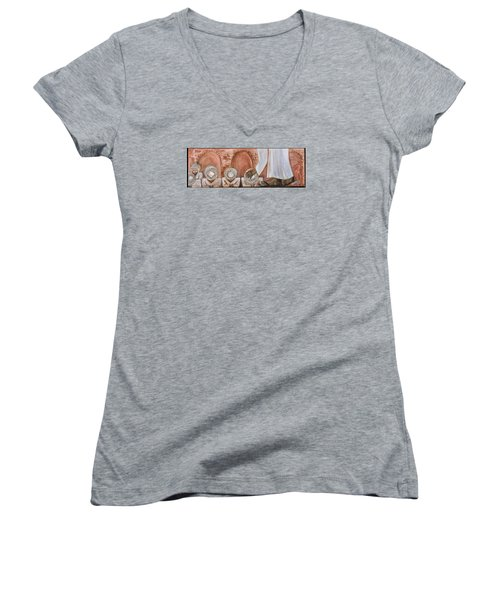 O Egypt Women's V-Neck T-Shirt (Junior Cut) by Cassie Sears