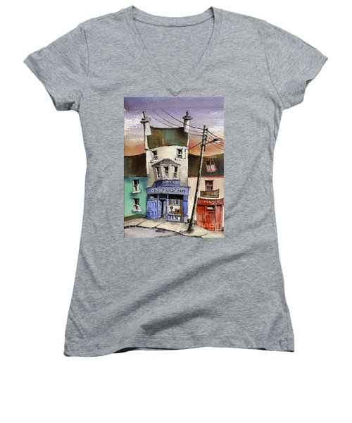 O Heagrain Pub Viewed 115737 Times Women's V-Neck (Athletic Fit)