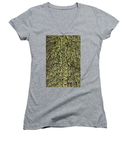 Oak With Lichen Women's V-Neck T-Shirt