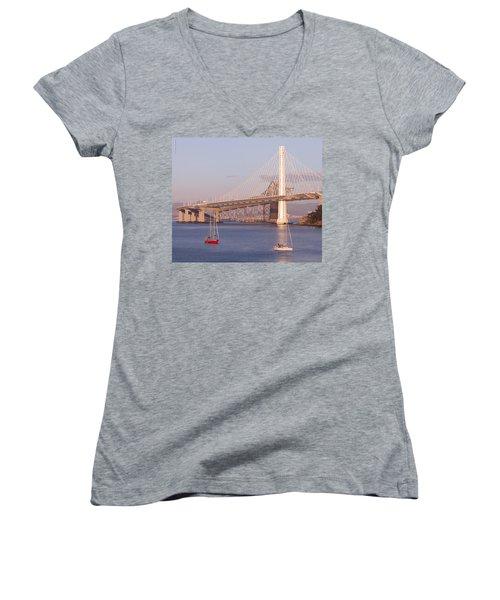 Oakland Bridge Women's V-Neck