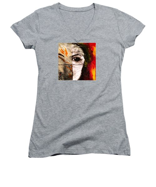 Obscure Women's V-Neck T-Shirt (Junior Cut) by Helen Syron