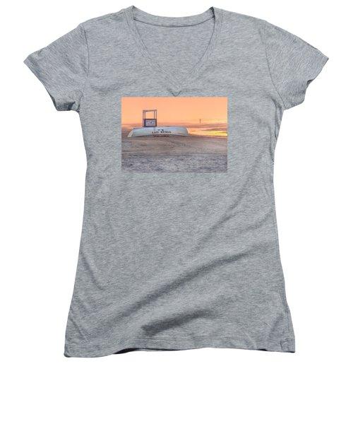 Ocean City Beach Patrol Women's V-Neck T-Shirt
