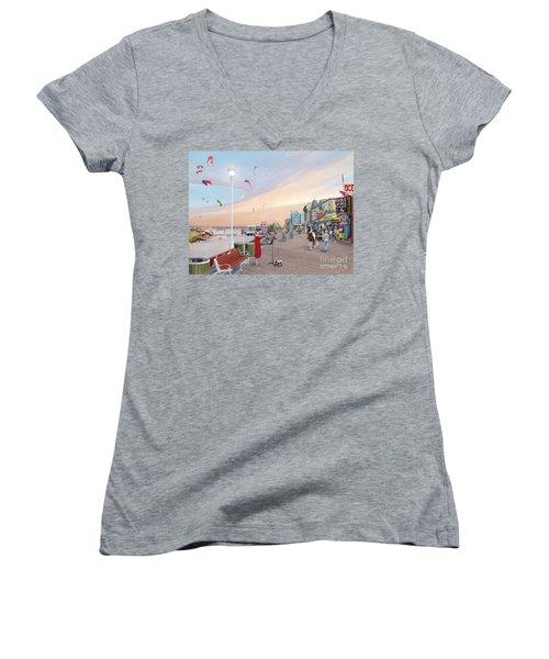 Ocean City Maryland Women's V-Neck T-Shirt