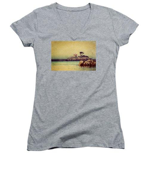 Ocean Dreams Women's V-Neck T-Shirt (Junior Cut) by Melanie Lankford Photography