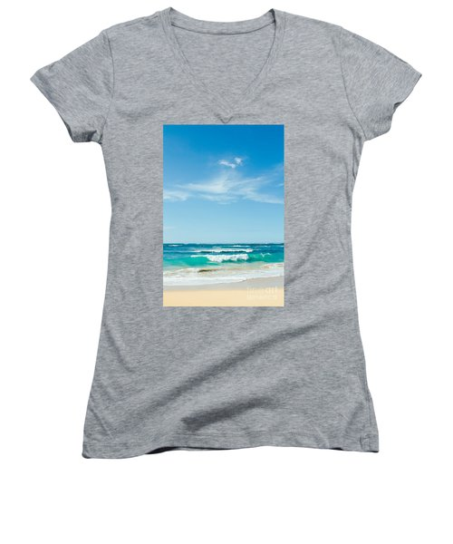 Women's V-Neck T-Shirt featuring the photograph Ocean Of Joy by Sharon Mau