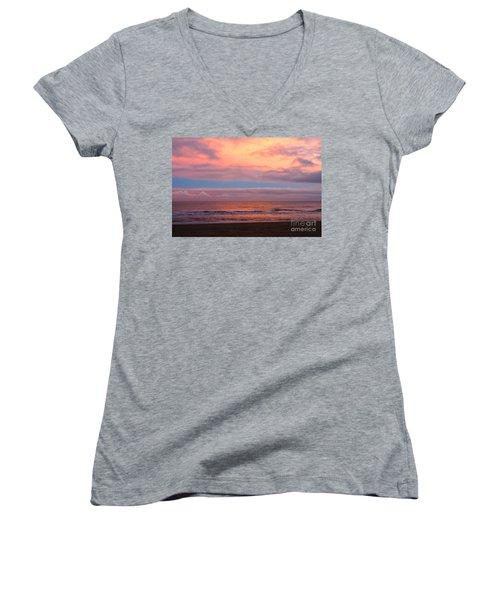 Ocean Sunset Women's V-Neck
