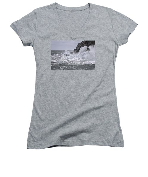 Ocean Surge At Gulliver's Women's V-Neck (Athletic Fit)