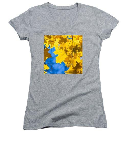 October Blues 8 - Square Women's V-Neck T-Shirt (Junior Cut) by Alexander Senin