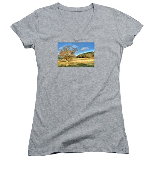 October Gold Women's V-Neck T-Shirt