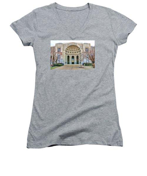 Ohio Stadium Main Entrance 1672 Women's V-Neck T-Shirt