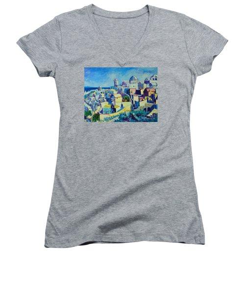 OIA Women's V-Neck T-Shirt (Junior Cut) by Ana Maria Edulescu